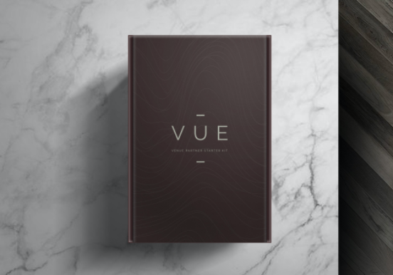 VUE welcome package design